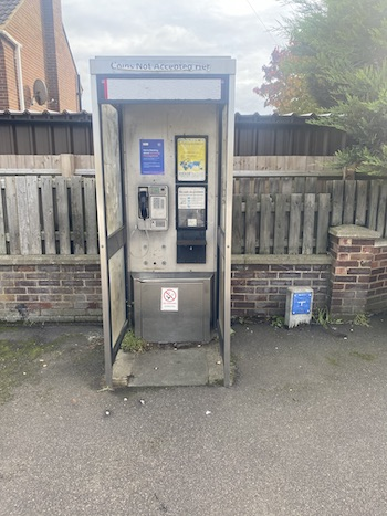 Denel Close, Ampthill Road Flitwick payphone