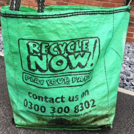 Central Bedfordshire Council Garden waste bag