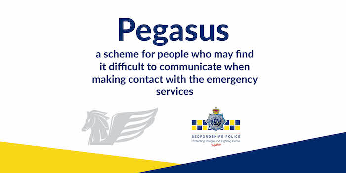 Pegasus scheme to help those with communication difficulty Image Bedfordshire Police
