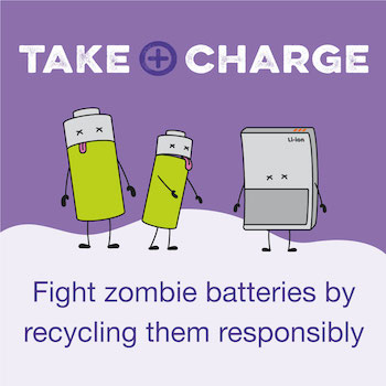 """Central Bedfordshire Council joins national fight against """"zombie batteries"""" in bid to tackle waste collection fires Image: Environmental Services Association 2020"""