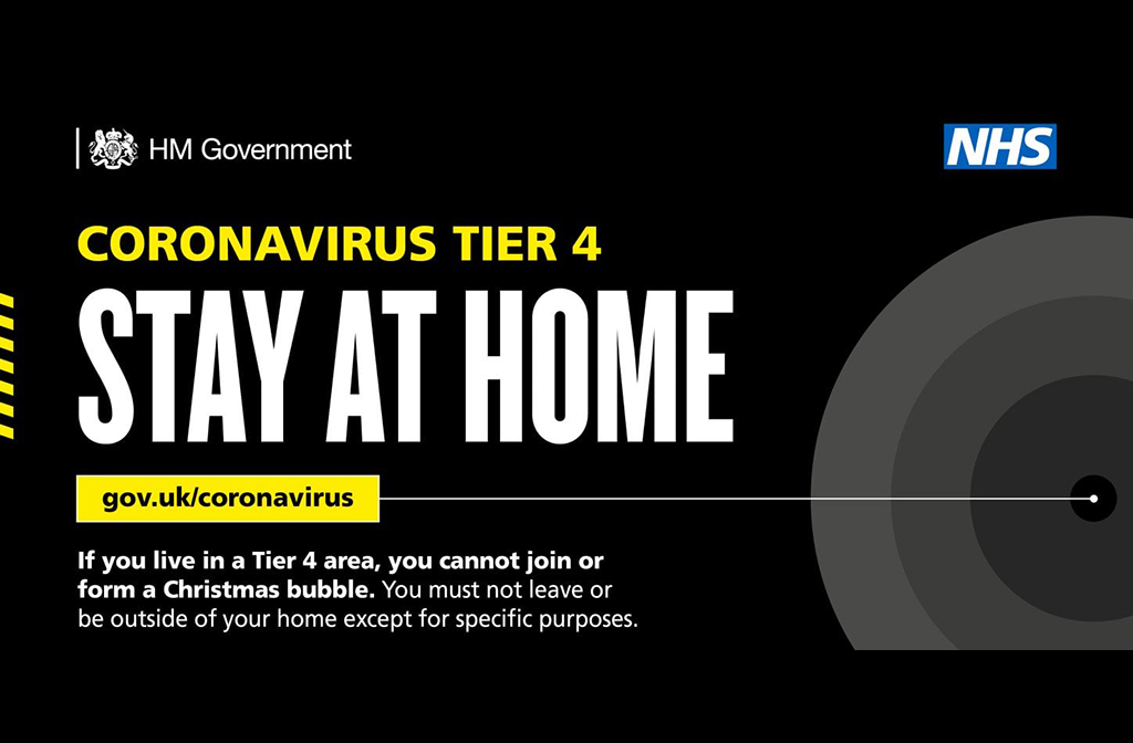Tier 4 Stay at Home Image Open Government Licence