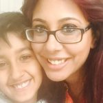 Meera Naran pictured with her son Dev Image Open Government Licence v3.0