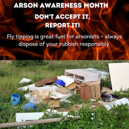 Arson Awareness Month Image Bedfordshire Fire and Rescue Service