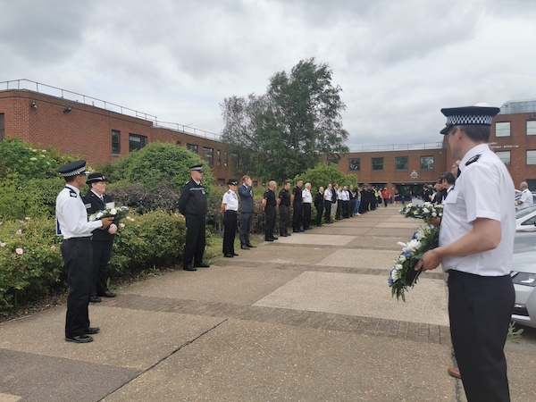 Bedfordshire Police remembers heroic police officer who died tackling knifeman