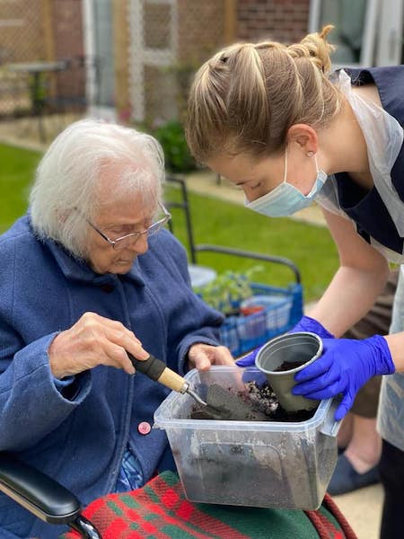 Lu Lawrence, the activity coordinator at Baycroft Flitwick Care Home has been shortlisted as a finalist in the Great British Care Awards Image provided by Ms Lawrence
