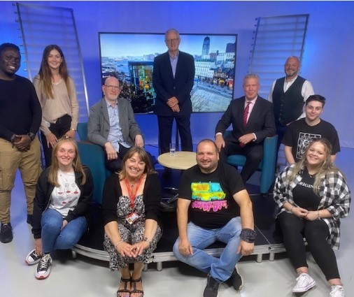 Octopus TV & Beds partnership - guests & graduates Image supplied by University of Bedfordshire