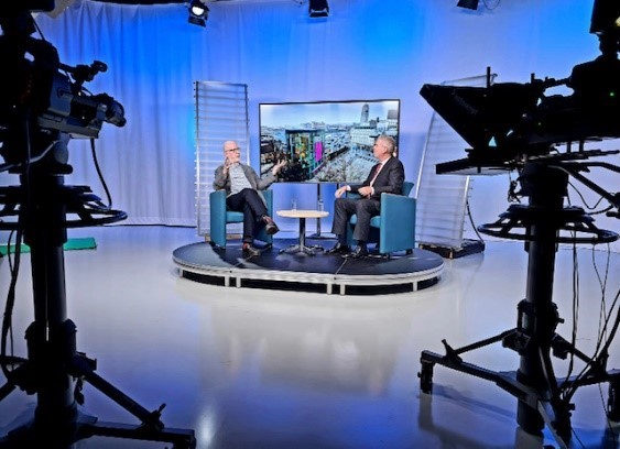 Octopus TV & Beds partnership - interview with John Stevenson. Image supplied by University of Bedfordshire