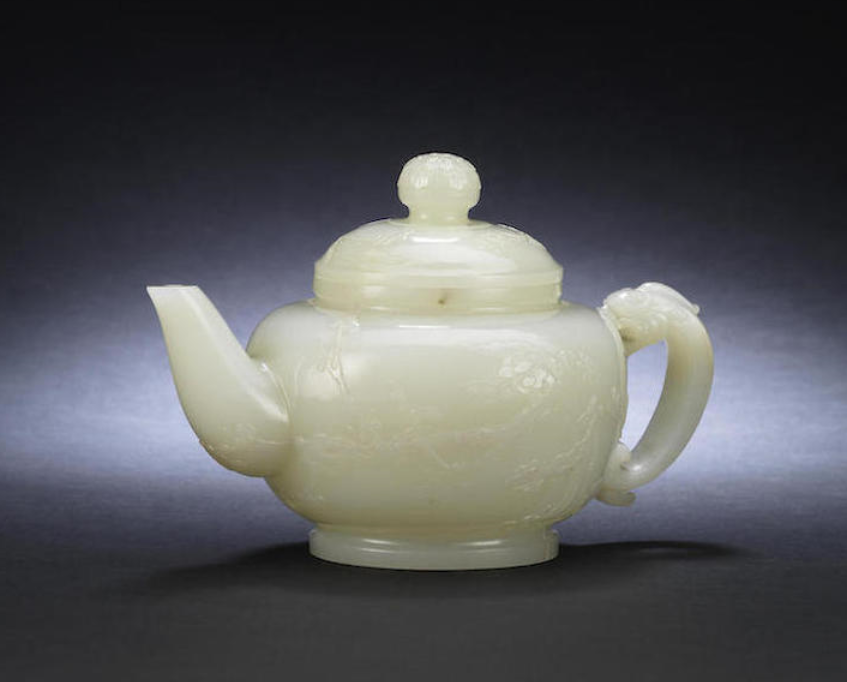 Rare pale green Jade teapot - Bonhams Image supplied by Bedfordshire Police