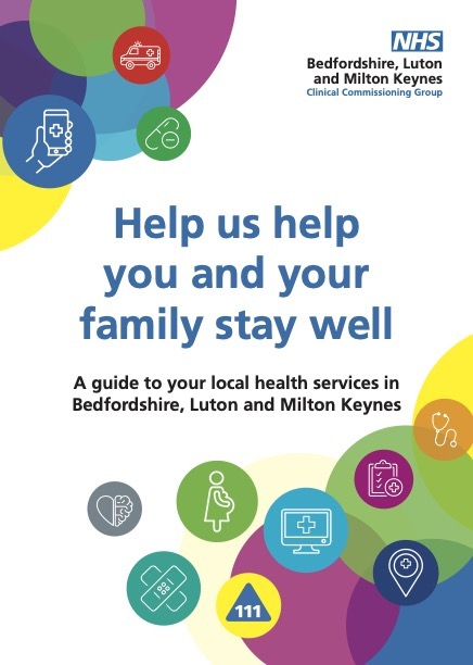 Help us help you and your family stay well Guide front page Image BLMK CCG