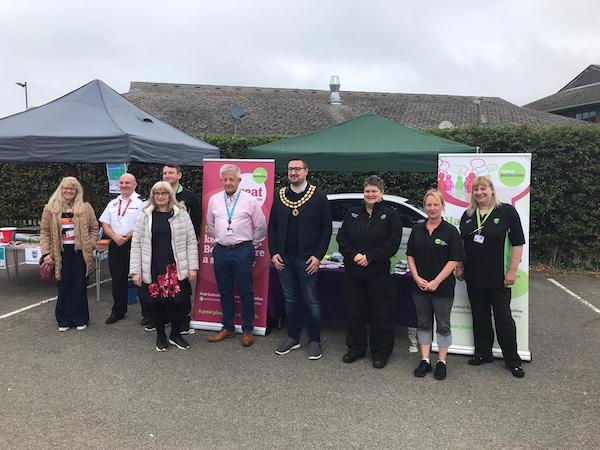 Community Action Day stalls Image CBC