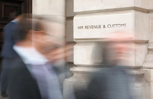 HM Revenue and Customs (HMRC) office sign Image: Open Government Licence v3.0